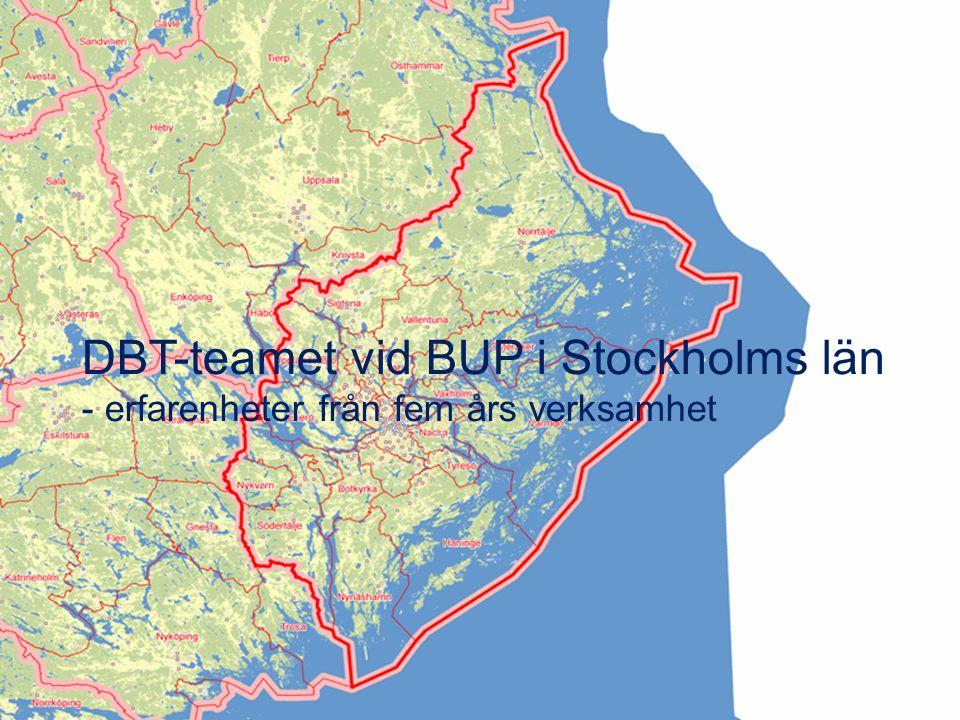 DBT-teamet vid BUP i Stockholms län - erfarenheter från fem års verksamhet