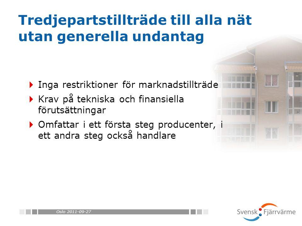Oslo 2011-09-27 Tack! Ulrika Jardfelt ulrika.jardfelt@svenskfjarrvarme.se