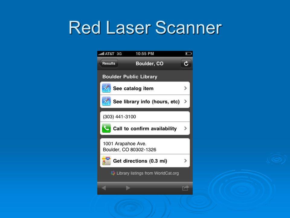 Red Laser Scanner