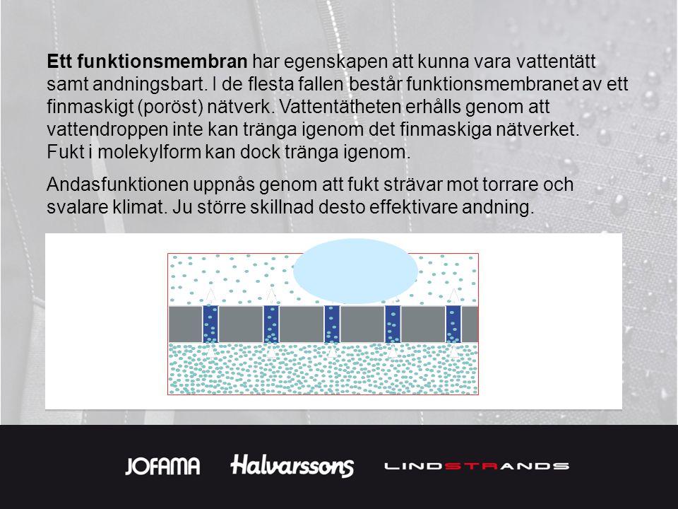 Det är därför man använder sig av ventilations öppningar, även i membran plagg, för att skapa bättre förutsättningar för en effektiv andning och bättre komfort.