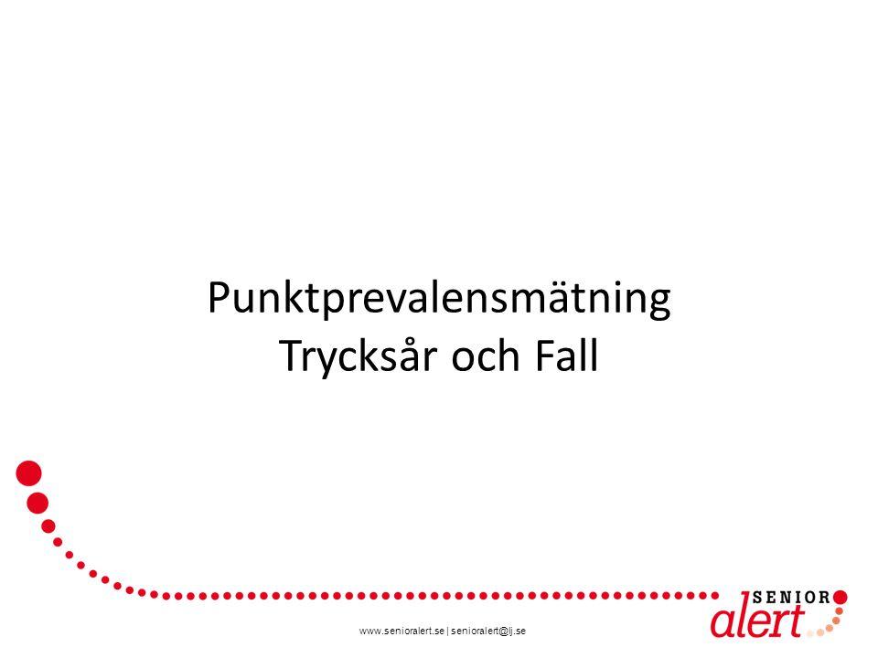 www.senioralert.se | senioralert@lj.se Punktprevalensmätning Trycksår och Fall