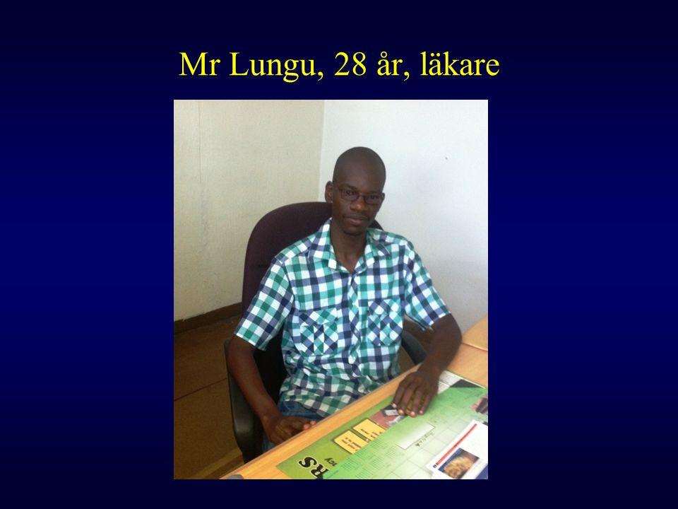 Mr Lungu, 28 år, läkare