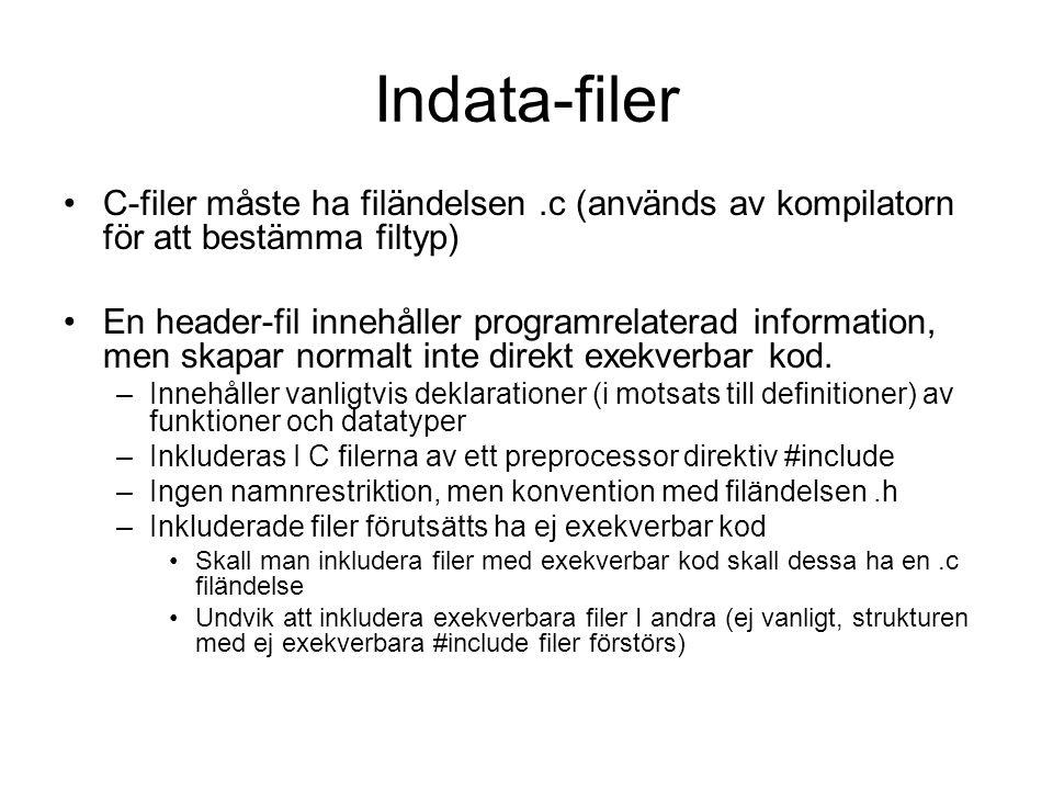 Exempel Linker options
