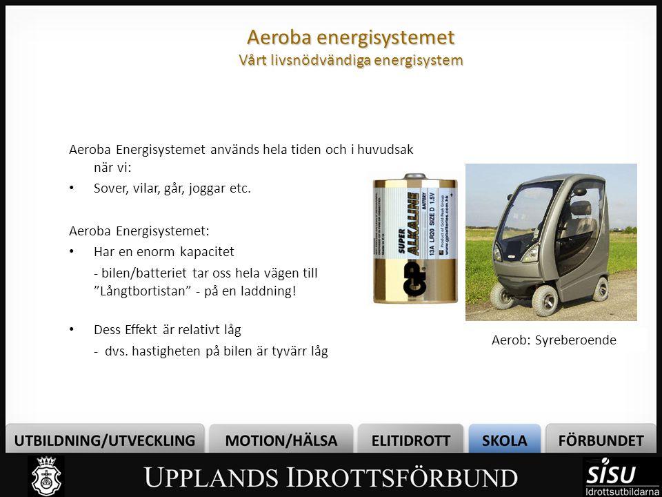 Aeroba energisystemet Förbränner Näringsämnen Vad behövs för att en ELD ska brinna.