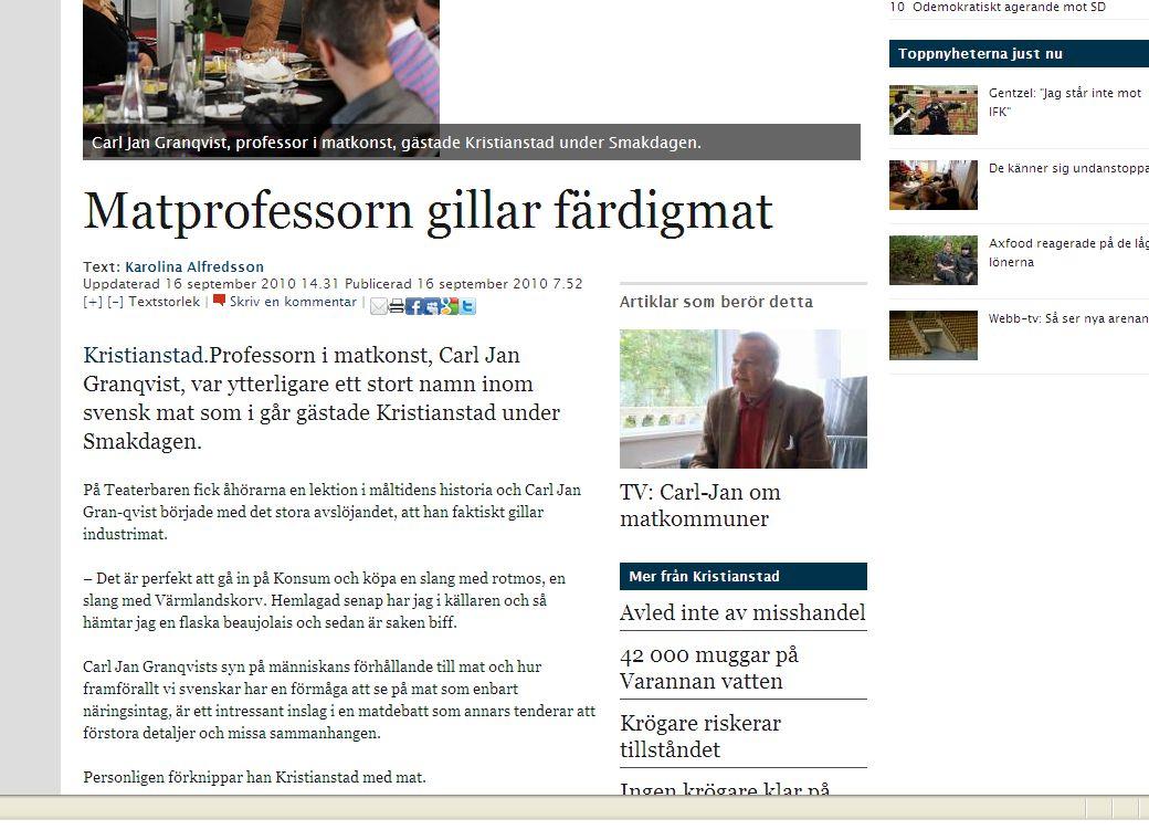 Matkvalitet i Matlandet Sverige Samverkan.Inte ställa småskaligt mot storskaligt.