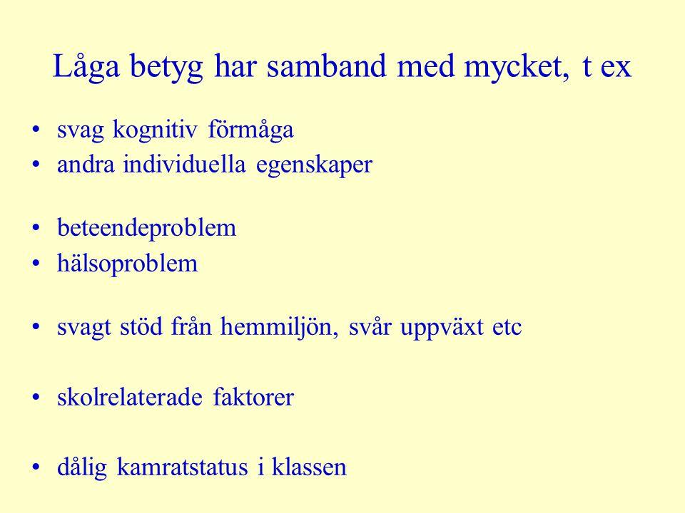 RR Just för kön/ålder Barn som växer upp i fosterhem6.4 Barn som växer upp i familjer med återkommande socialbidrag3.6 Barn med psykiskt sjuka föräldrar3.0 Barn med låga el ofullständiga betyg i åk 92.5 - 3.0 Barn som får insatser av barnevernet före 13 år men som växer upp hemma 2.5 Svenskfödda adopterade2.6 Utlandsfödda adopterade1,9 Barn som växer upp i familjer med kortvarigt socialbidrag2.2 Barn från ensamförälderfamiljer2.0 Barn från familjer med mycket låg inkomst men utan ek biståndi.s.