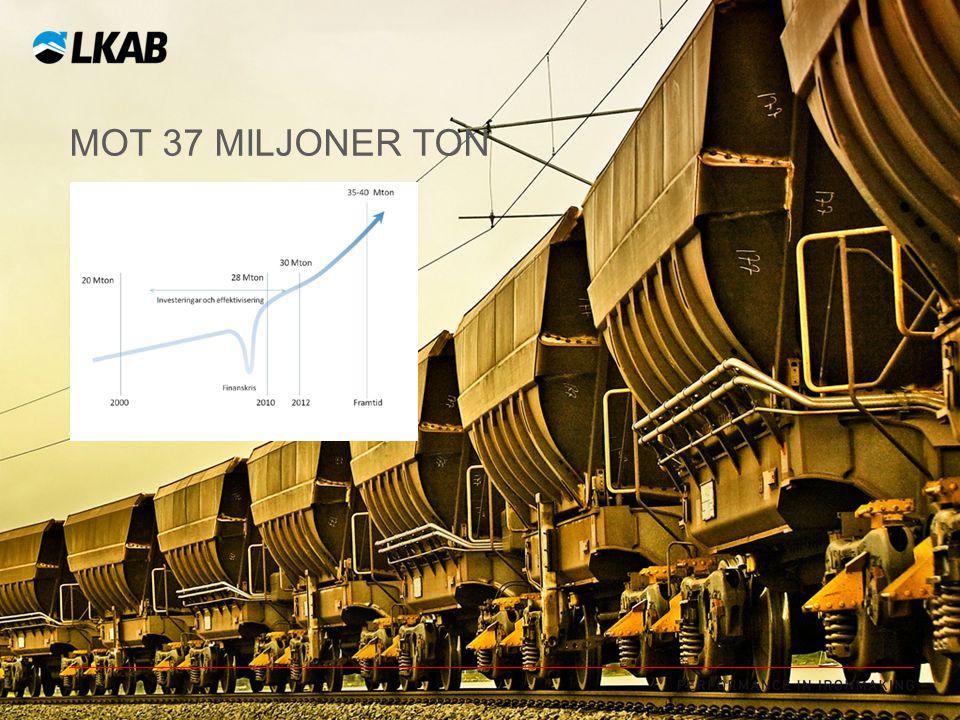 MOT 37 MILJONER TON