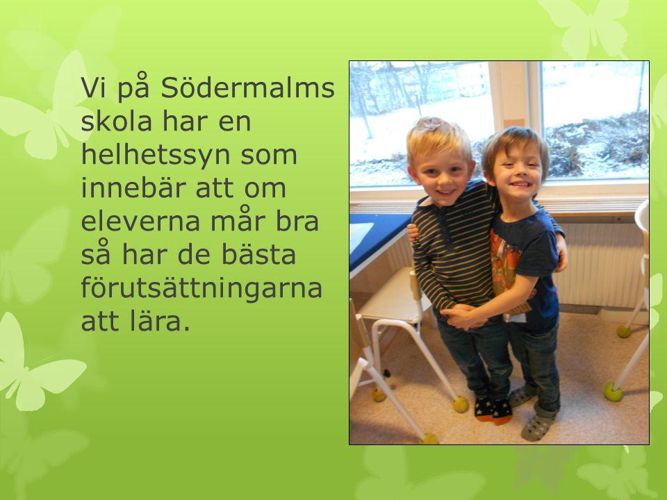 Förskoleklassen har fem fokusområden: Leken Social utveckling/sociala förmågor Svenska Matematik Idrott och hälsa