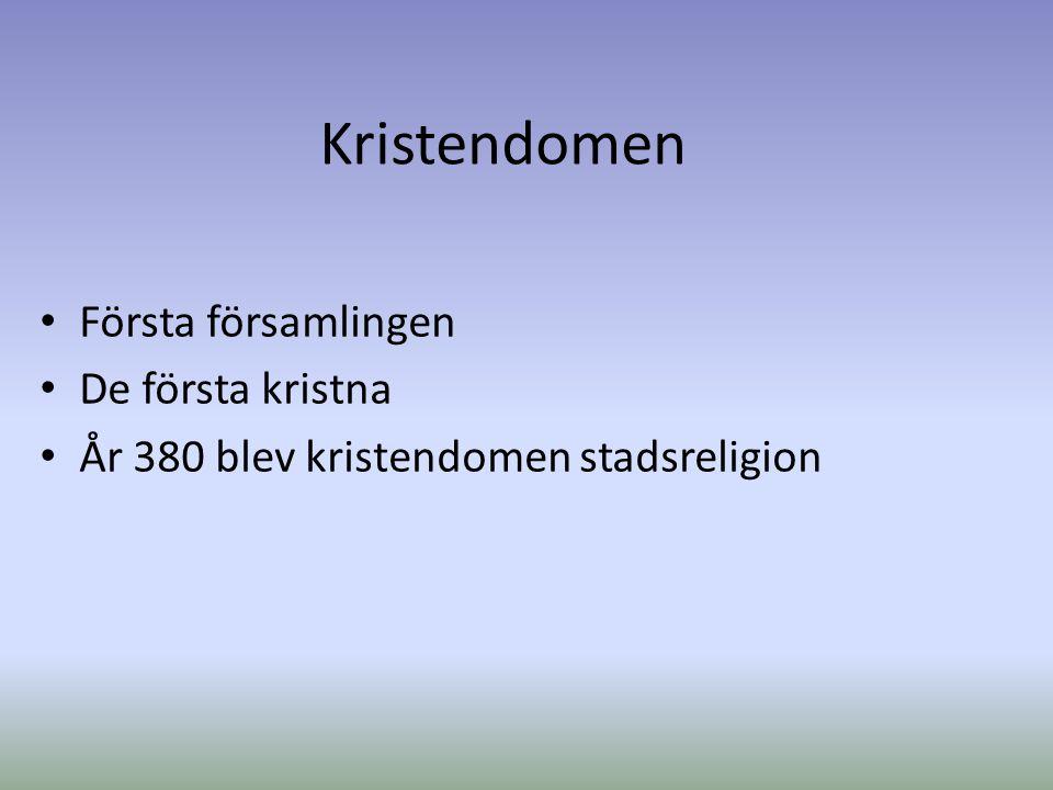 Kristendomen Splittringen år 1054 inom ortodoxa kyrkan Orsak till splittringen