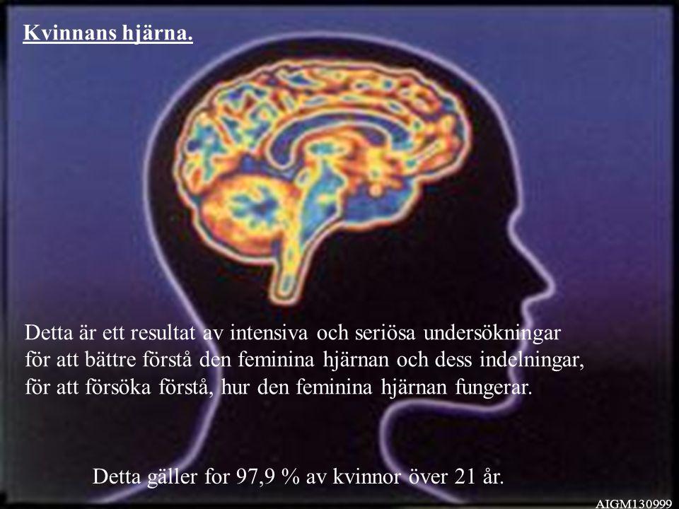 Kvinnans hjärna.