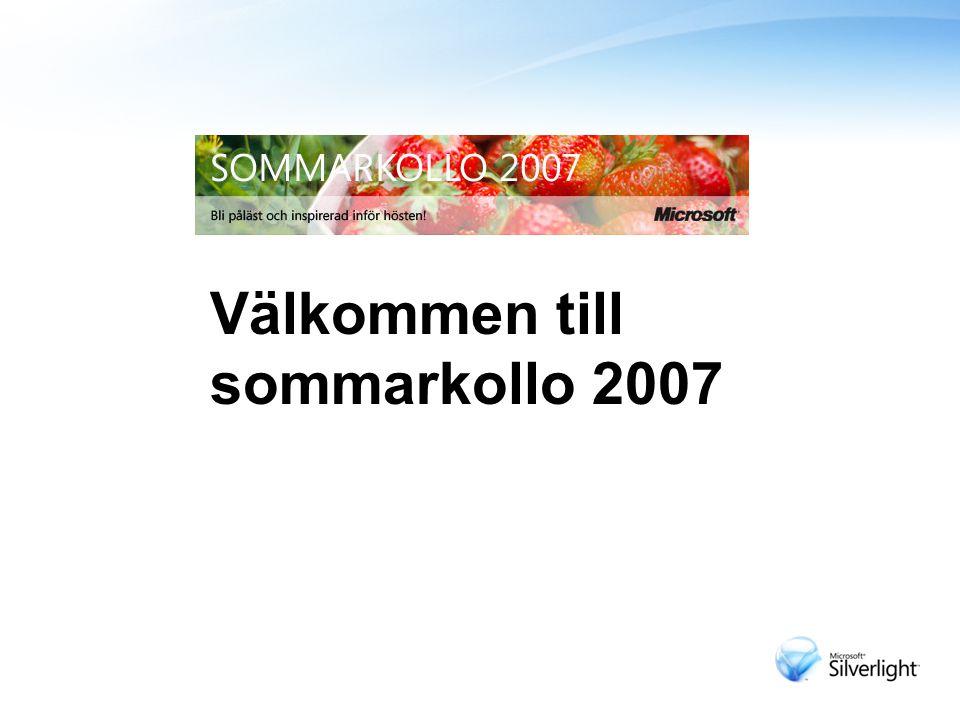 Varmt Välkomna till Sommarkollo 2007 Välkommen till sommarkollo 2007