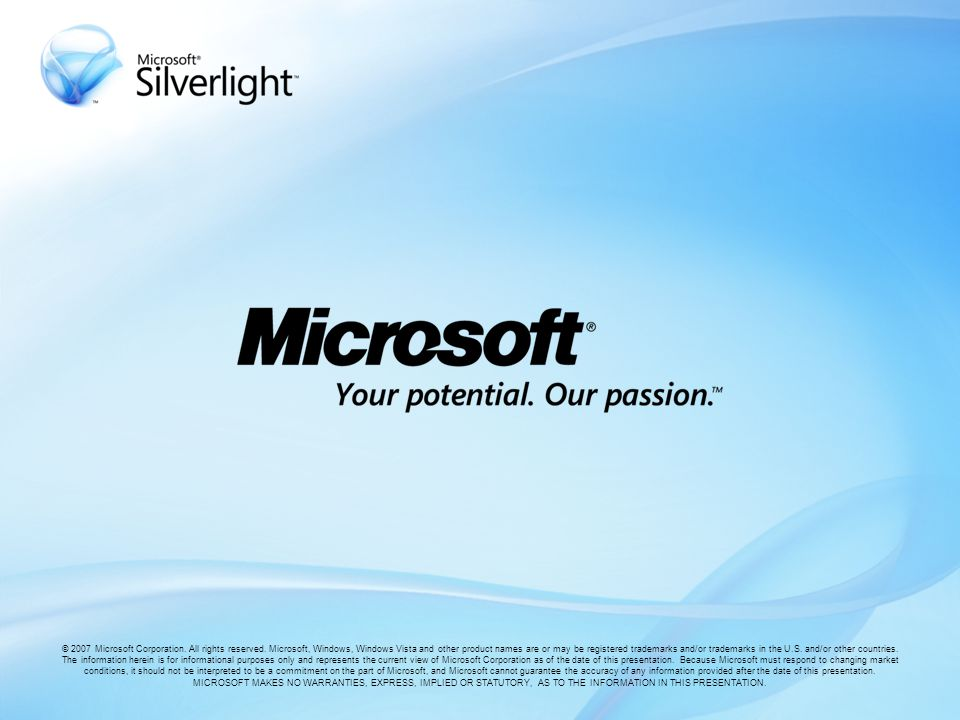 © 2007 Microsoft Corporation.All rights reserved.