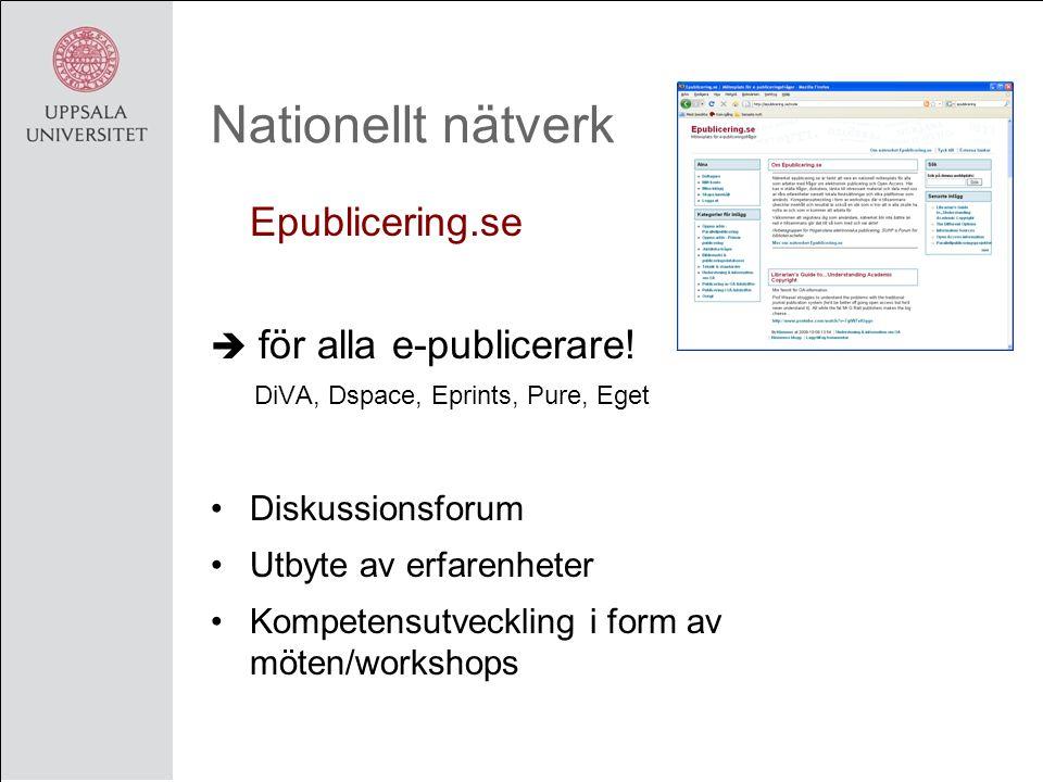 Nationellt nätverk Epublicering.se  för alla e-publicerare.