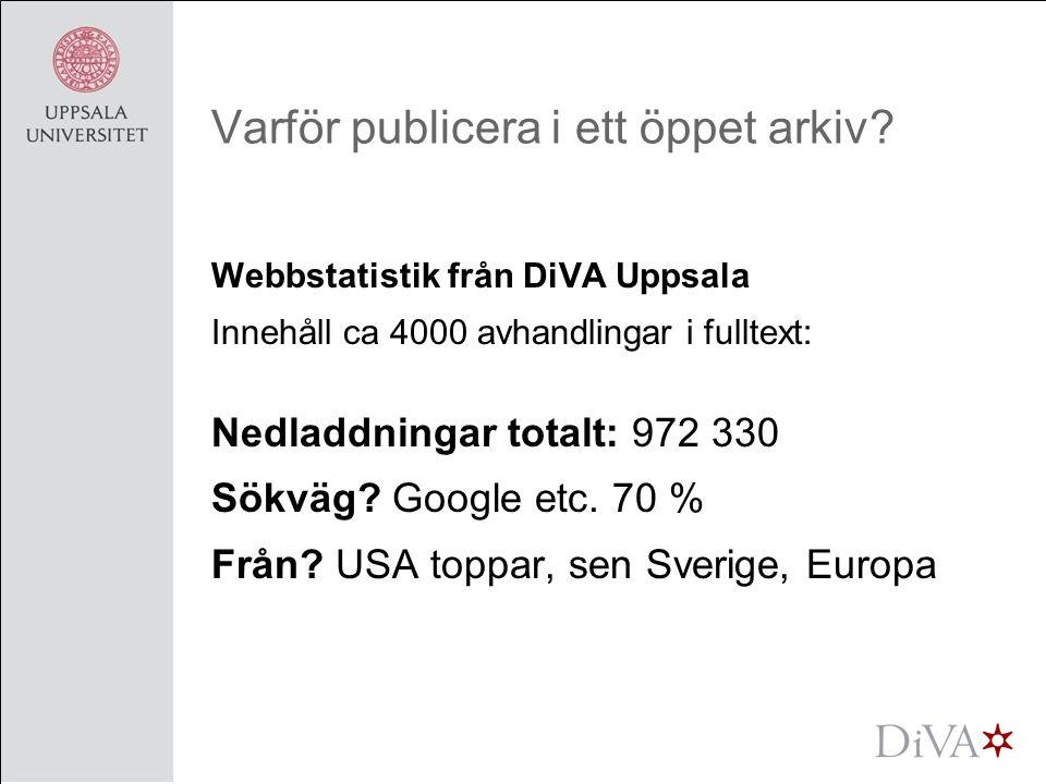 10 i topp avhandlingar Från SLU, Sveriges lantbruksuniversitet (2006) 1.