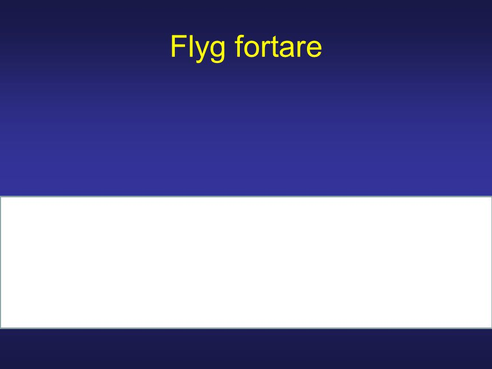 Flyg fortare
