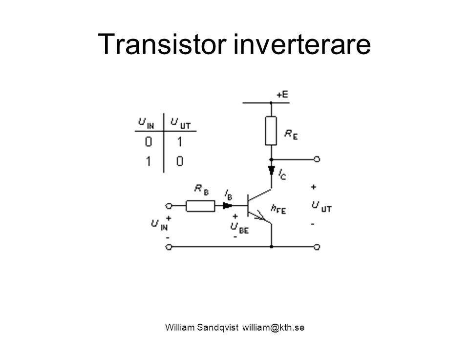 William Sandqvist william@kth.se Transistor inverterare