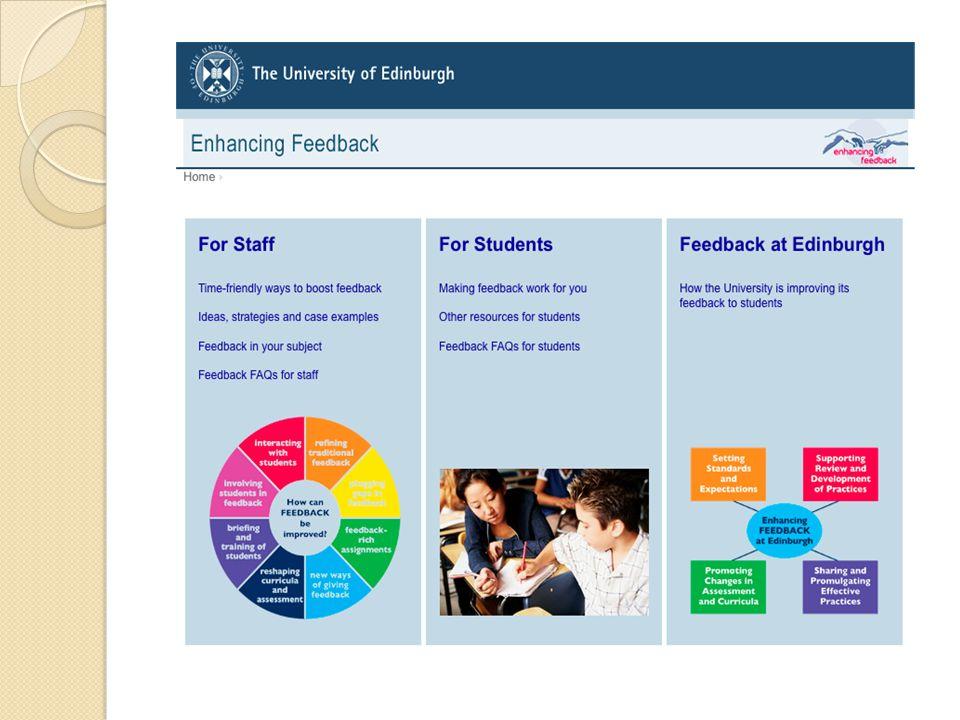 Exempel: Förbättra skriftlig feedback Fokusera skrivna kommentarer ◦ På det skrivna ej studenten ◦ Till FSR alt bedömningskriterier ◦ Kommentarer exemplifieras med citat/exempel i texten ◦ Förslag till förbättringar i kommande arbeten ◦ Få förbättringsförslag (2/3) möjliga för studenten att uppnå vid nästa arbete/steg