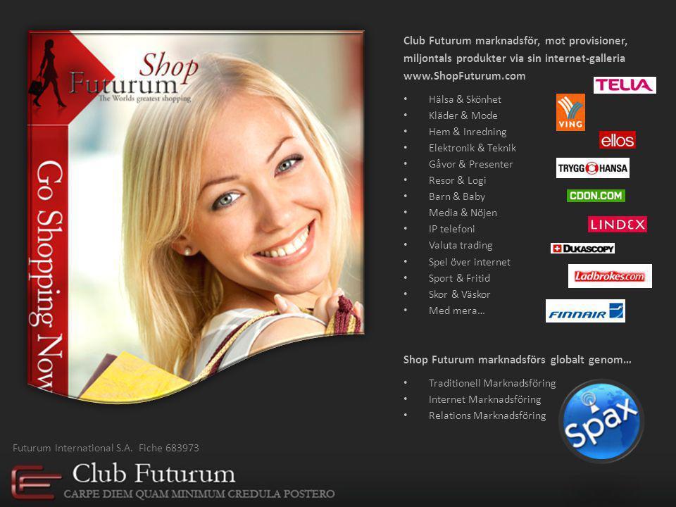 Tanken bakom Club Futurum 38 personer inom marknadsföring, investment, programmering och företagsledning satte sig ner tillsammans Sommaren 2007 för att sätta ihop ett unikt konceptet inom internethandel, investering och relationsmarknadsföring.