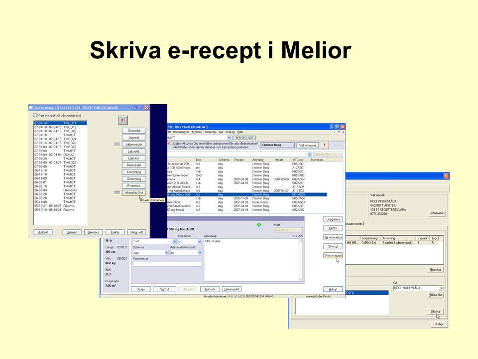 Skriva e-recept i Melior