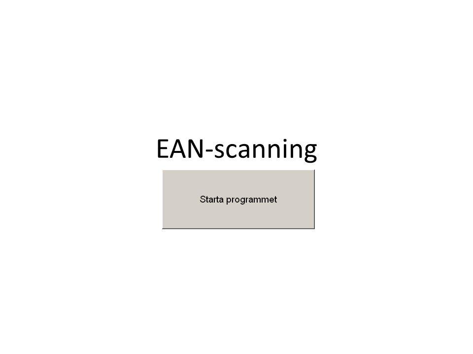 EAN-scanning