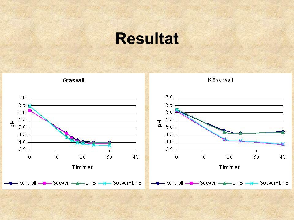 Test av Pieper-test juni och juli 2004 på Kungsängen 6 skiften i 13 testomgångar Vissa skiften testade vid 1:a och 2:a skörd 2 parallella prover per vall