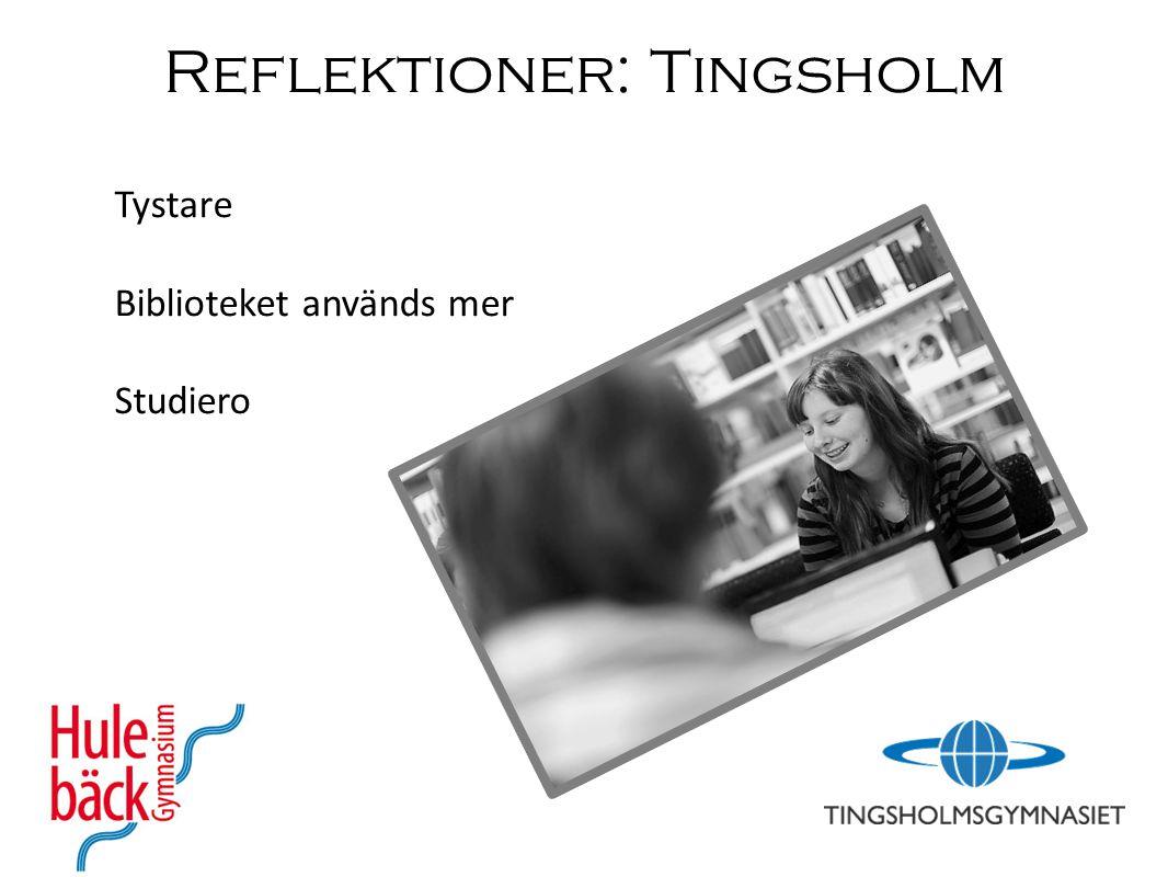 Reflektioner: Tingsholm Tystare Biblioteket används mer Studiero