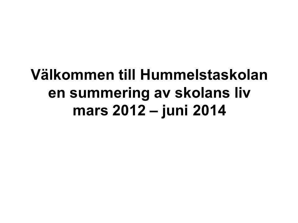 Välkommen till Hummelstaskolan en summering av skolans liv mars 2012 – juni 2014