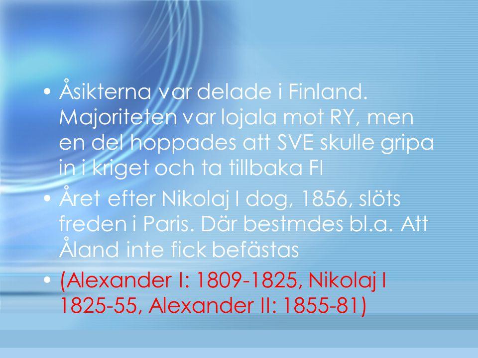 Åsikterna var delade i Finland. Majoriteten var lojala mot RY, men en del hoppades att SVE skulle gripa in i kriget och ta tillbaka FI Året efter Niko