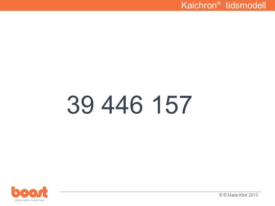 Kaichron ® tidsmodell 39 446 157 ® © Marie Klint 2013