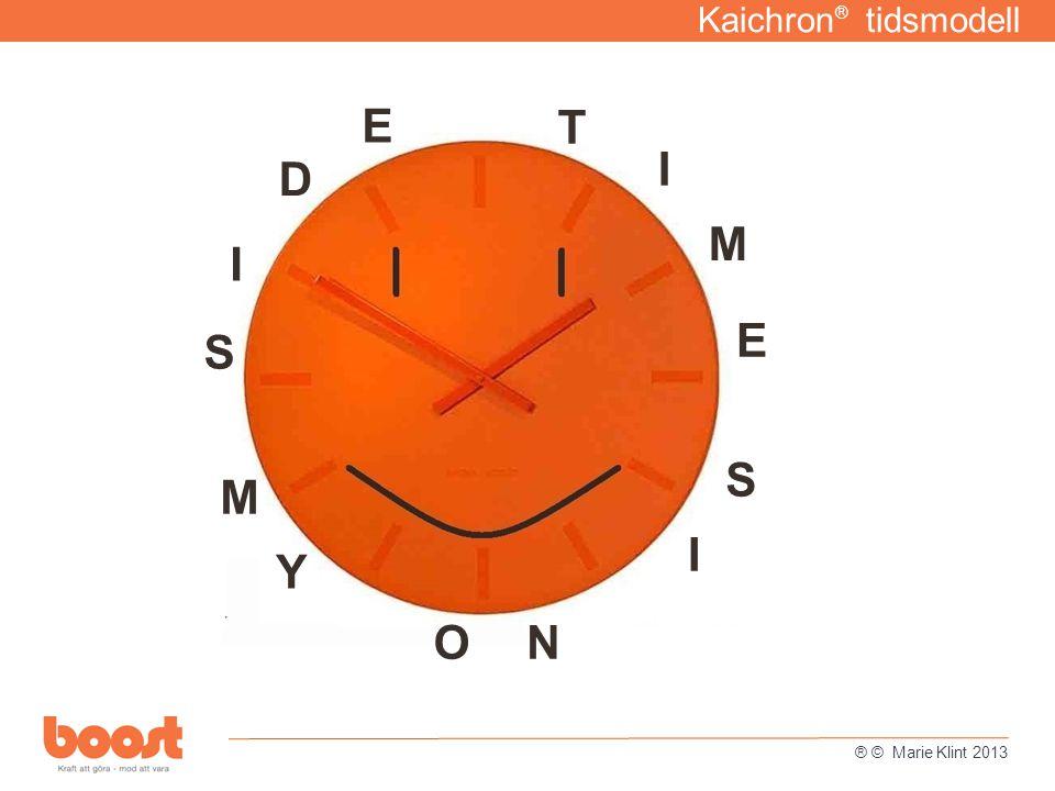 Kaichron ® tidsmodell T I M E I S O N M Y S I D E ® © Marie Klint 2013