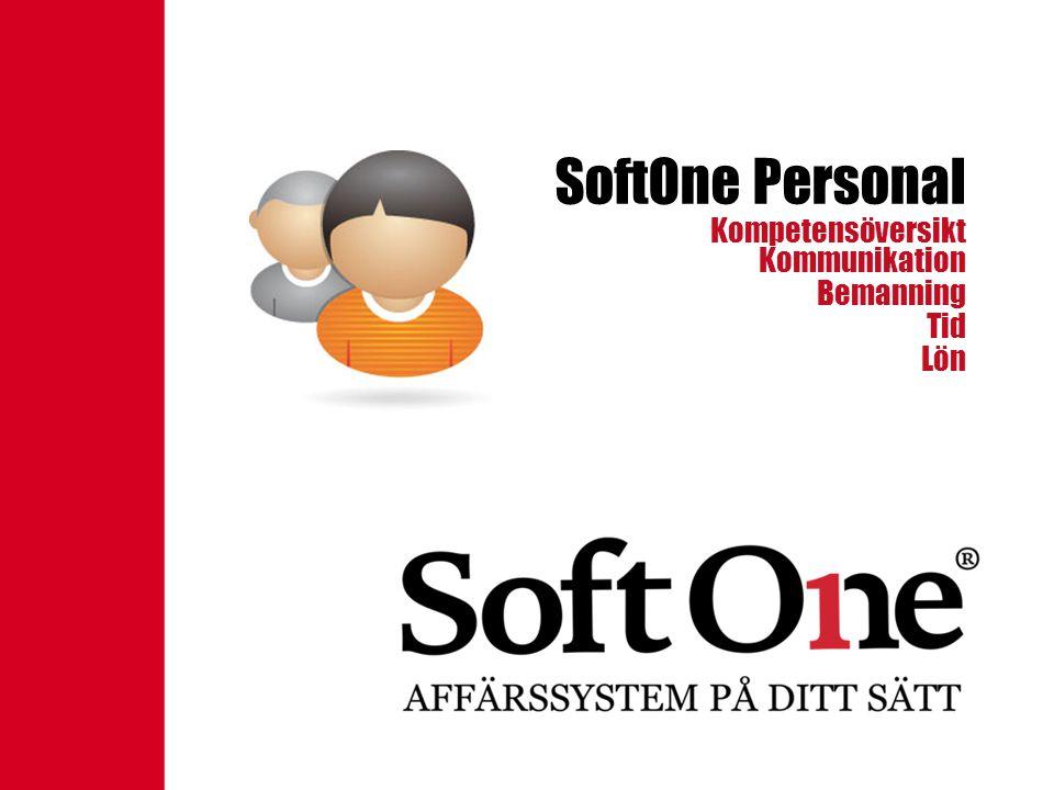 SoftOne Personal Kommunikation Bemanning Tid Lön Kompetensöversikt