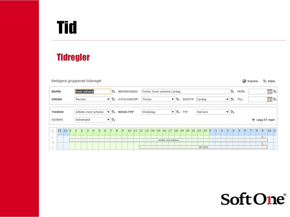 1-15 anställda Tid Tidregler