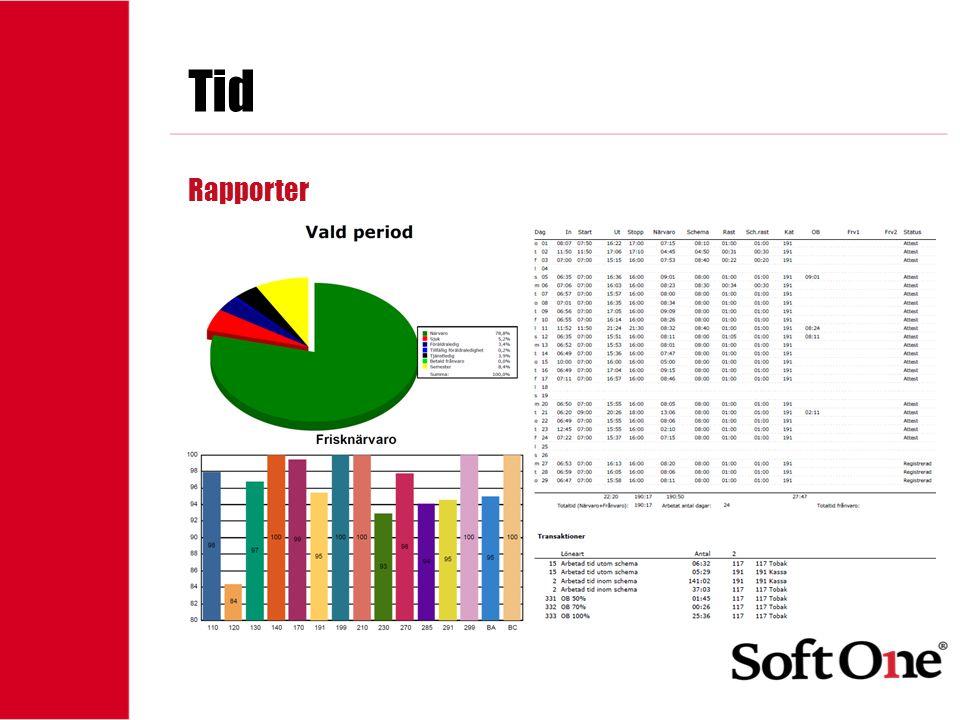 1-15 anställda Tid Rapporter