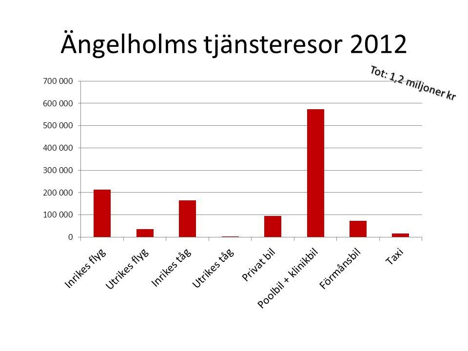 Ängelholms tjänsteresor 2012 Tot: 1,2 miljoner kr