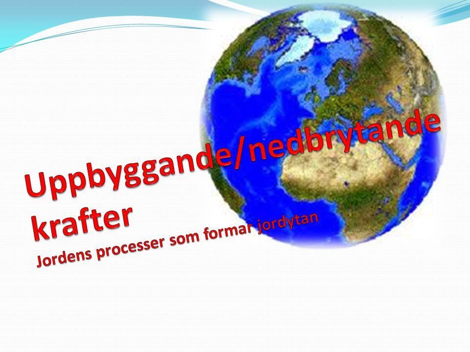 Uppbyggande krafter/Nedbrytande krafter Jorden förändras.