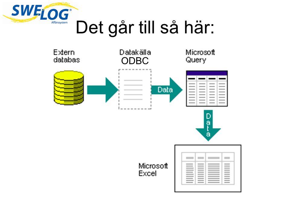 Databas En databas består i grunden av: - Tabeller Databasen finns på servern Du arbetar i ett system (ex Swelog) som hämtar sin information från databasen.