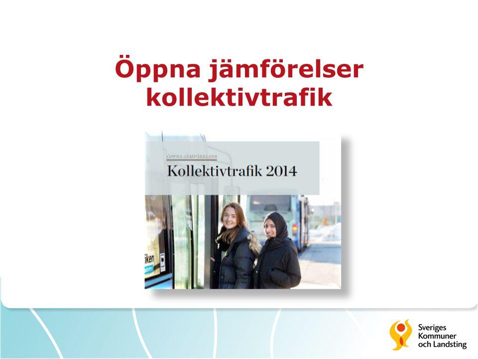 Öppna jämförelser kollektivtrafik