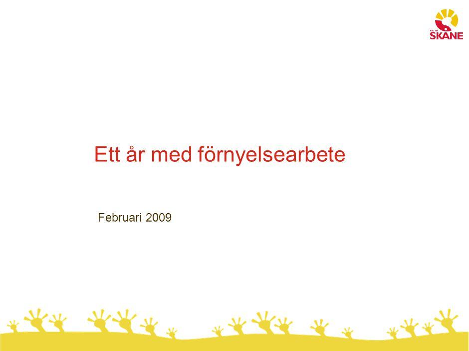 Ett år med förnyelsearbete Februari 2009