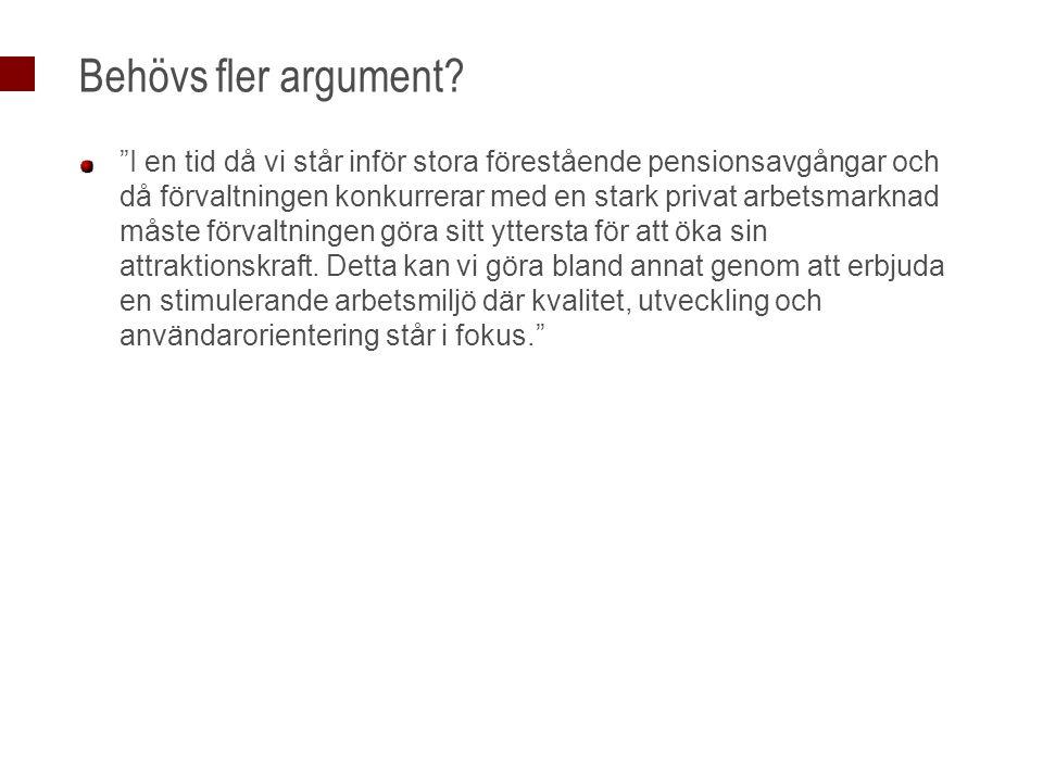 Behövs fler argument.