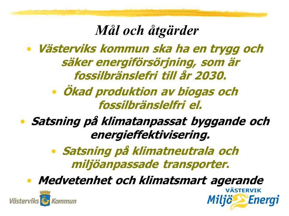 Västerviks kommun ska ha en trygg och säker energiförsörjning, som är fossilbränslefri till år 2030.