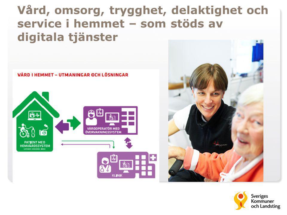 Vård, omsorg, trygghet, delaktighet och service i hemmet – som stöds av digitala tjänster