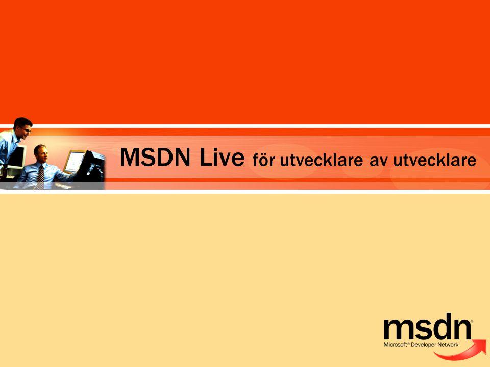 MSDN Live för utvecklare av utvecklare