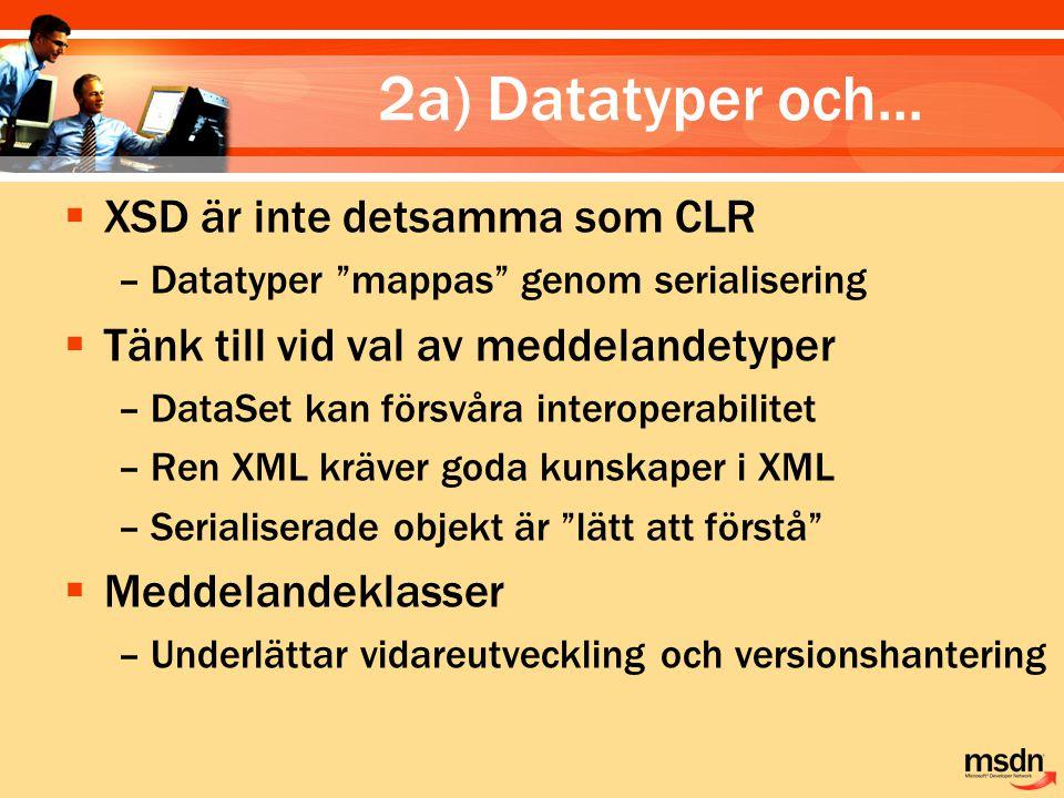 2a) Datatyper och...