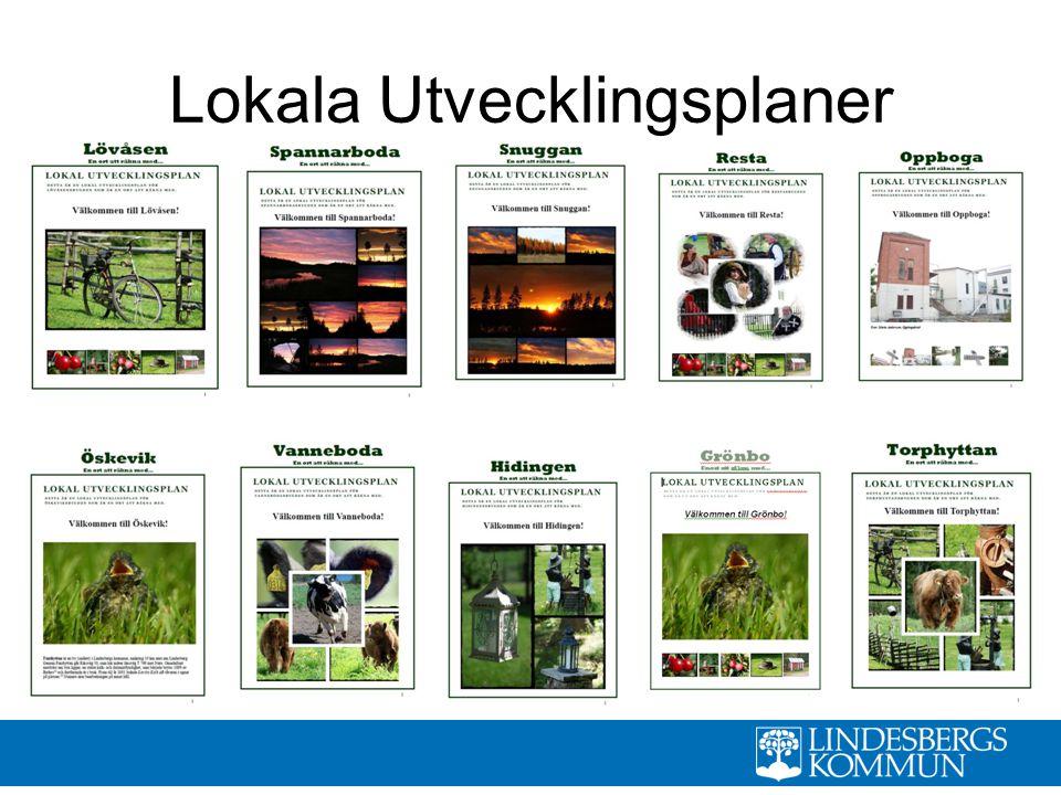 Turistbroschyr för Lindesbergs kommun med cykel- och vandringsleder mm