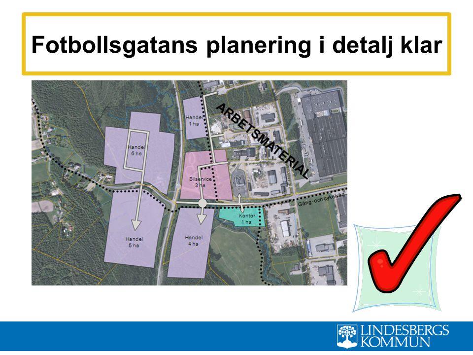 Fotbollsgatans planering i detalj klar