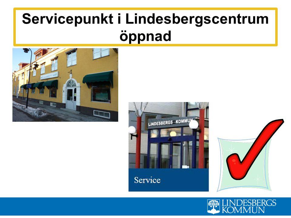Servicepunkt i Lindesbergscentrum öppnad