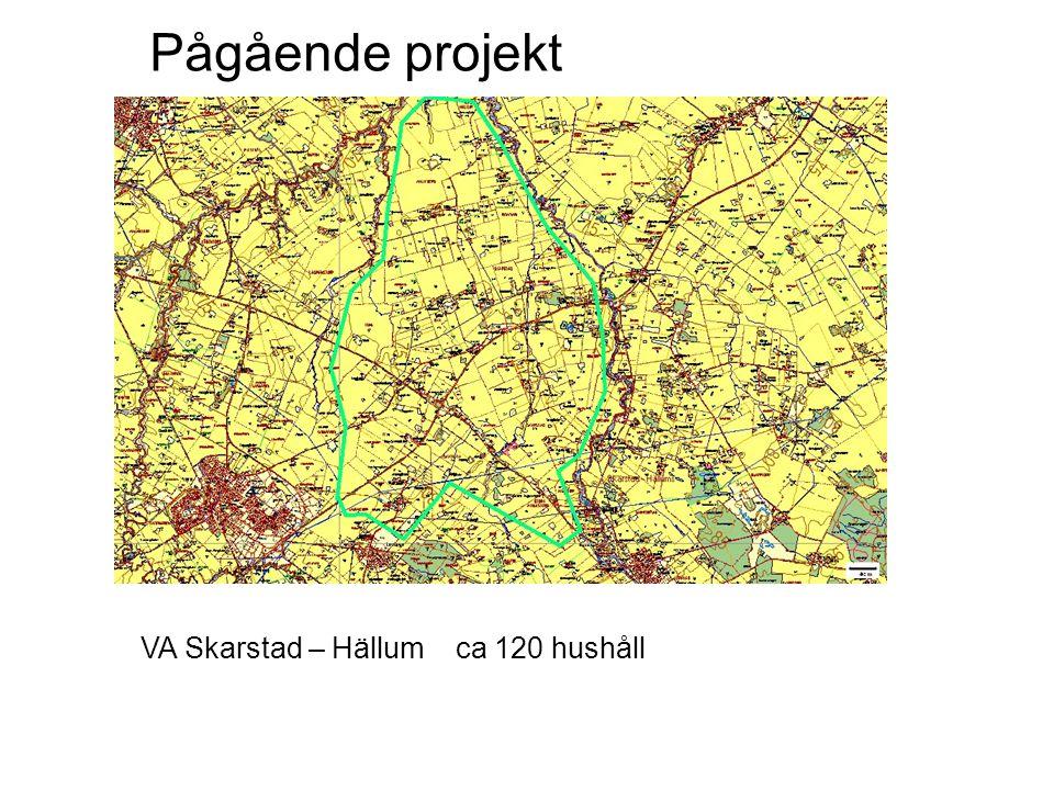 Pågående projekt VA Skarstad – Hällum ca 120 hushåll