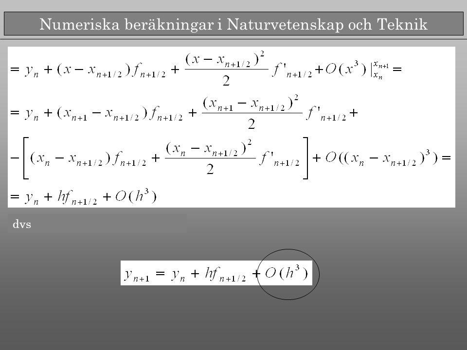 Numeriska beräkningar i Naturvetenskap och Teknik dvs