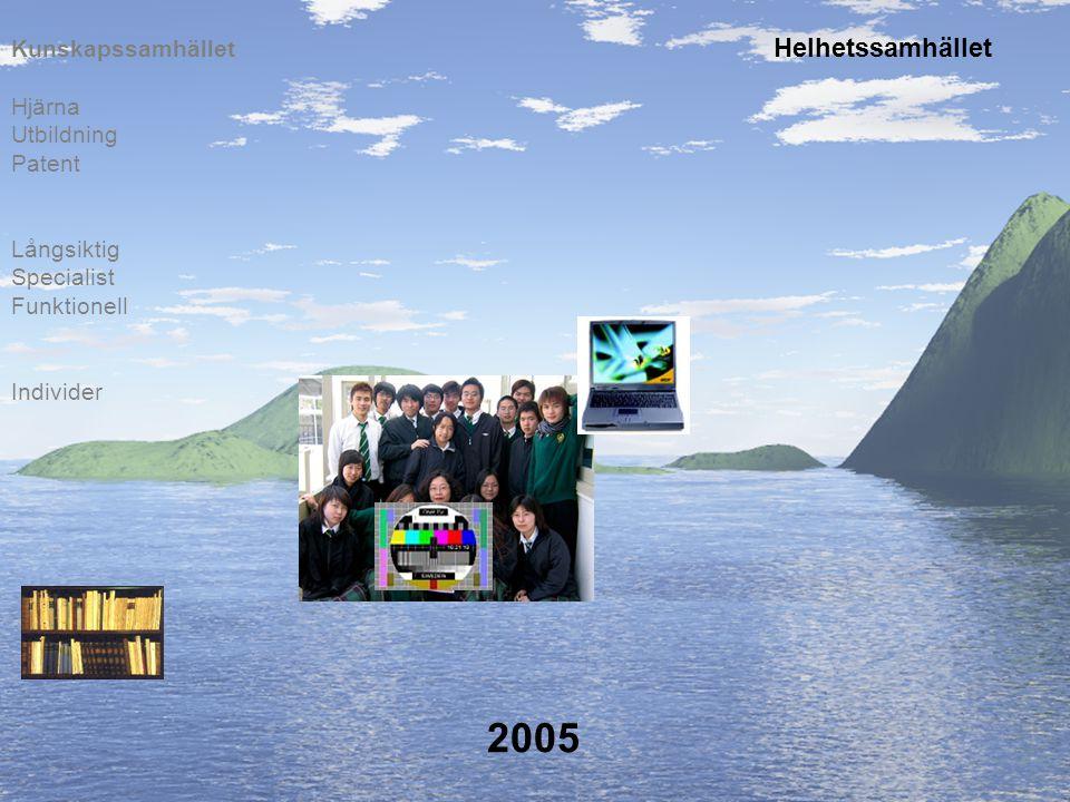 2005 Individer Långsiktig Specialist Funktionell Hjärna Utbildning Patent Kunskapssamhället Helhetssamhället