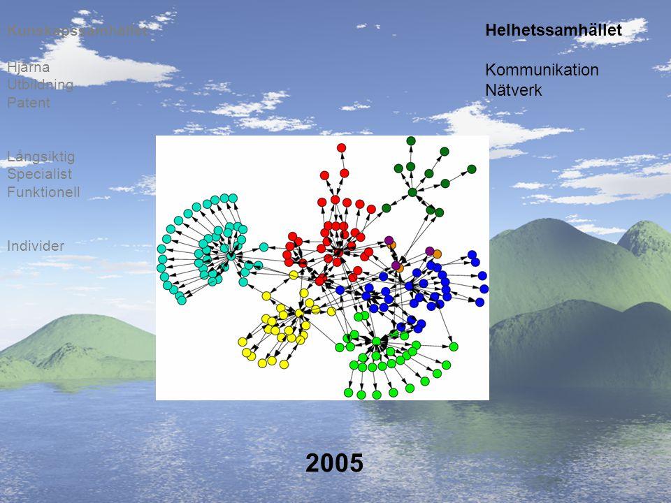 2005 Individer Långsiktig Specialist Funktionell Hjärna Utbildning Patent Kunskapssamhället Helhetssamhället Kommunikation Nätverk